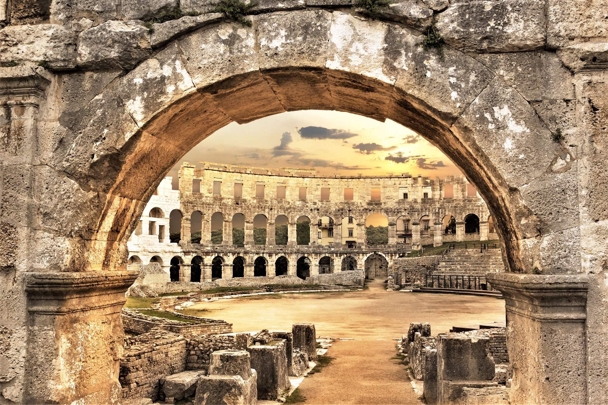 Pula colosseum croatia history travel ruins
