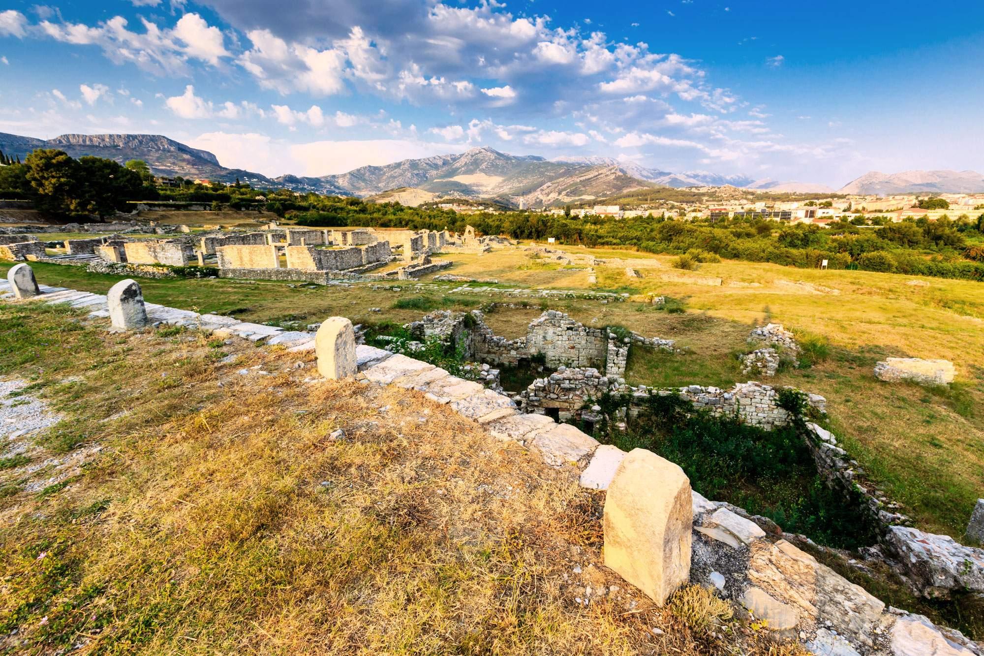 Salona croatia roman ruins mountains solin history