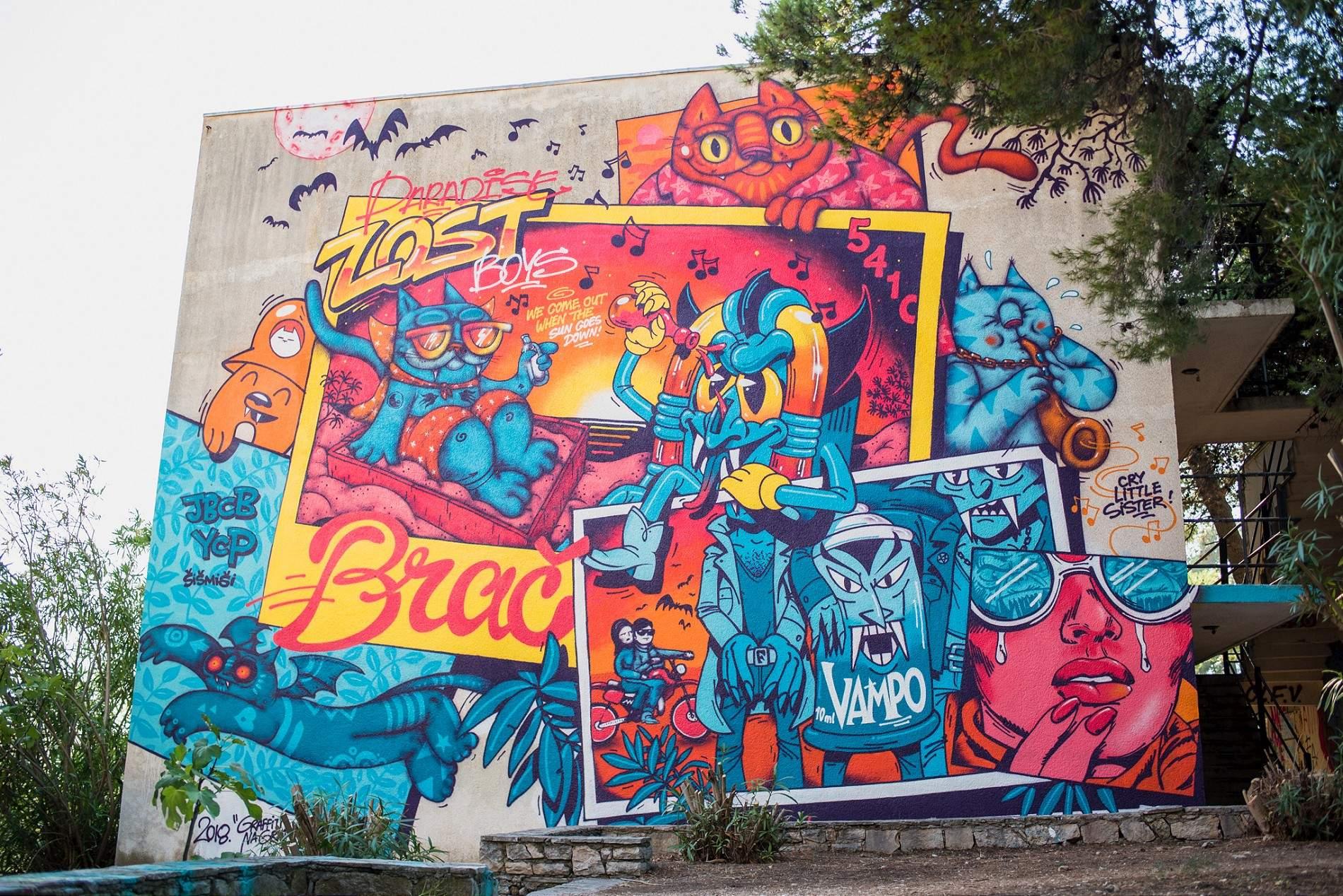 Brac croatia graffiti festival