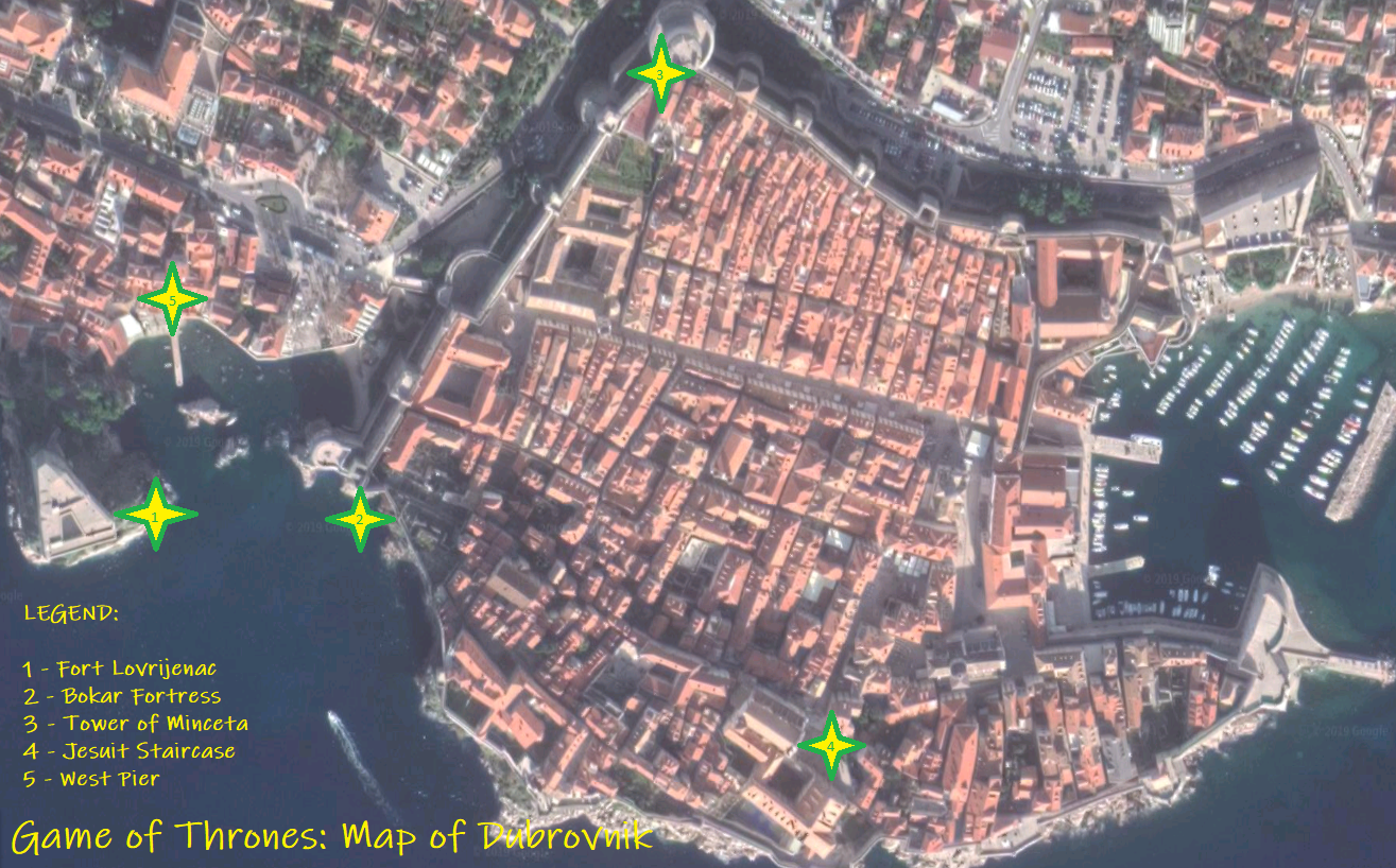 dubrovnik old town sat map 2