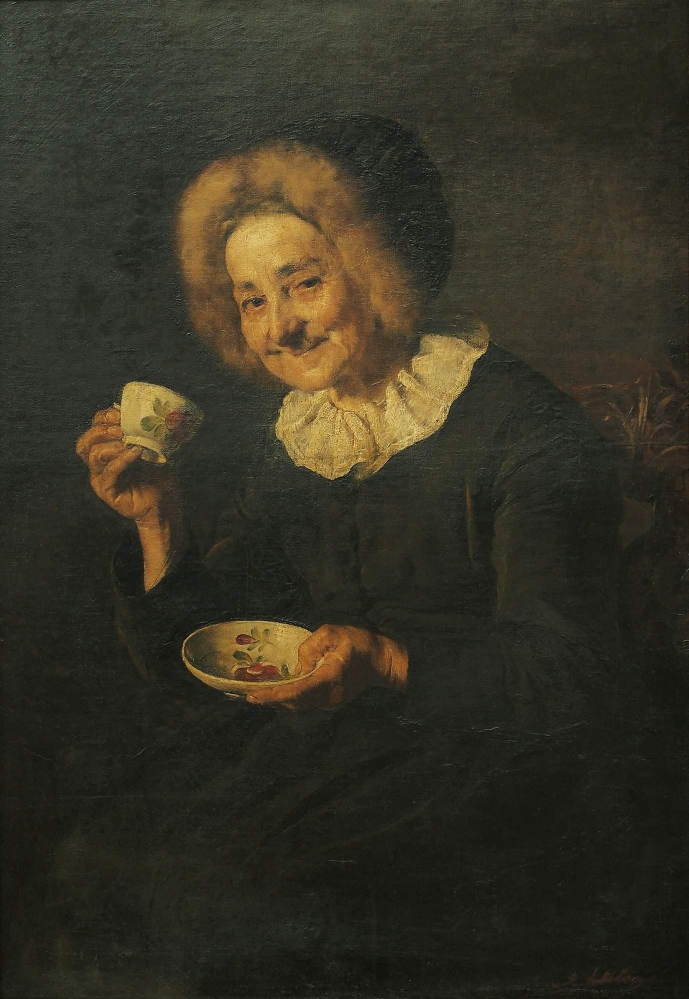 coffee-drinker-ivana-kobilca-slovenian-art