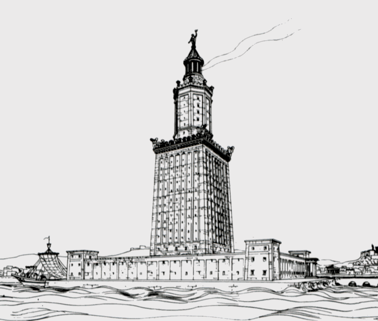 lighthouse-of-alexandria-seven-wonders-of-the-ancient-world-what-the-greeks-invented