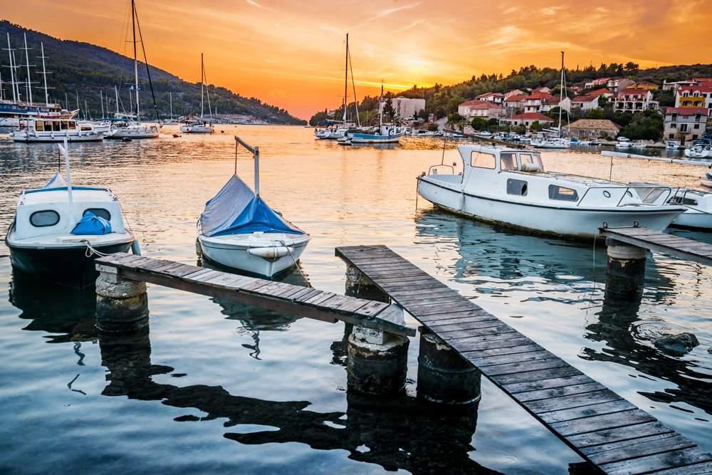 korcula-vela-luka-sunset
